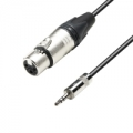 Audio laidas Adam Hall Cables 5 Star Series - Microphone Cable Neutrik XLR female to 3.5 mm Jack stereo 1.5 m